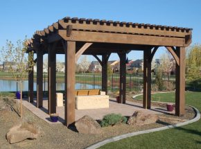 large pergola for shade in San Jose