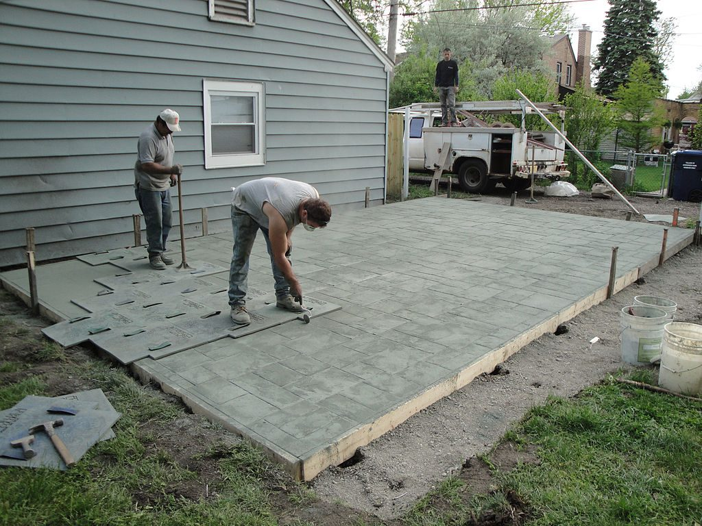 concrete stamping for California patio