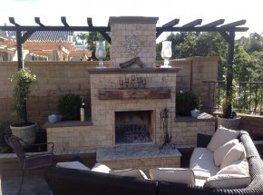 Brick outdoor fireplace San Jose