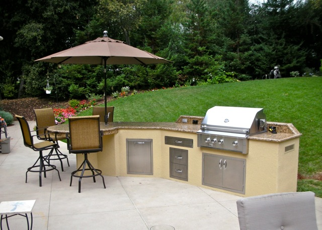 Custom outdoor kitchens in the bay area unlimited for Ready made outdoor kitchen