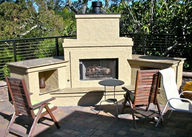 Outdoor Fireplace Design And