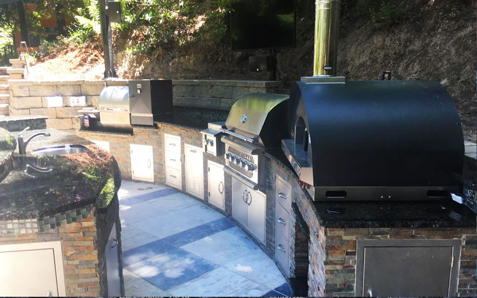 Outdoor Kitchen And Pizza Oven In Los Gatos Ca