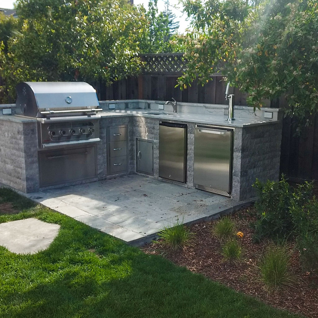 Menlo Park Outdoor Kitchen In Ca Unlimited Outdoor Kitchen